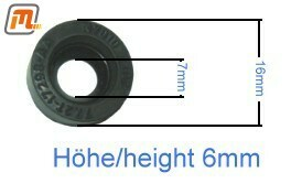gearbox-manual sealing ring speedometer driving pinion  (4-speed, type B, only for plastic driving pinion)